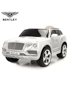 Bentley Bentayga el bil for barn gummihjul hvit