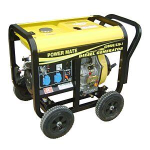 POWER MATE 6500 SMT 4- takts diesel aggregat 1 fase 230V