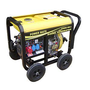 Power Mate 6500 SMT 4- takts diesel aggregat 1 fas & 3 fas 230/400 V